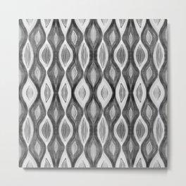 Organic pattern black white grey Metal Print