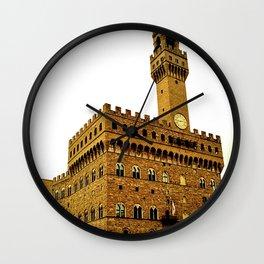 Palazzo Vecchio - Florence, Italy Wall Clock