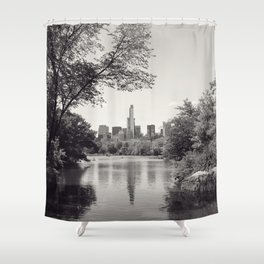 Central Park from Bow's Bridge Shower Curtain