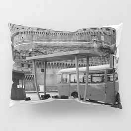 Castel Sant Angelo between past and present B/N Pillow Sham