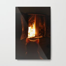 Misan intranced by fire... Metal Print