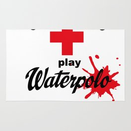 Give Blood - play Waterpolo Rug