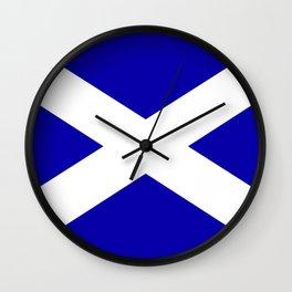 Scottish Flag Wall Clock