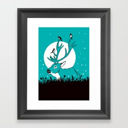 Friendly Deer Framed Art Print