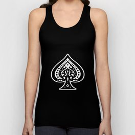 Ace of Spades Men Women Funny Playing Card Gambling Poker Black Jack Magic Cool Gift poker Unisex Tank Top