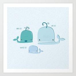 whale family Art Print