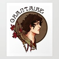 grantaire Art Prints featuring grantaire by chazstity