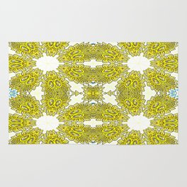 Antique Gold Flowers Rug