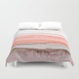WITHIN THE TIDES CORAL DAWN Duvet Cover