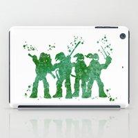 teenage mutant ninja turtles iPad Cases featuring Teenage Mutant Ninja Turtles by Carma Zoe