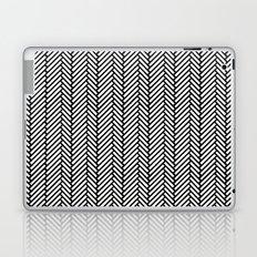 Herringbone Black Laptop & iPad Skin
