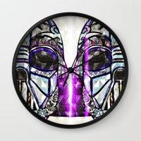 dark side Wall Clocks featuring Dark Side by Just Bailey Designs .com