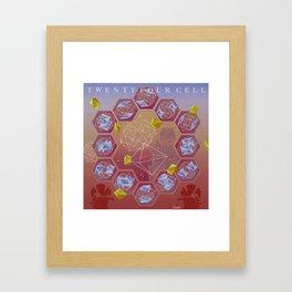 24 Cell Framed Art Print