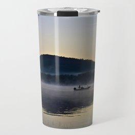 Fishing in the Morning Mist Travel Mug