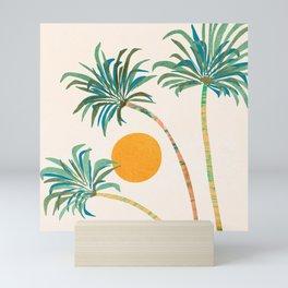 Summer Sunset Palms Mini Art Print