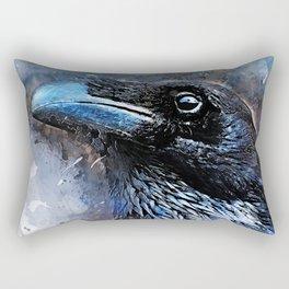 Crow art #crow #bird #animals Rectangular Pillow