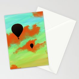 In the sky. Stationery Cards