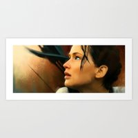 katniss Art Prints featuring Katniss by Kate Dunn