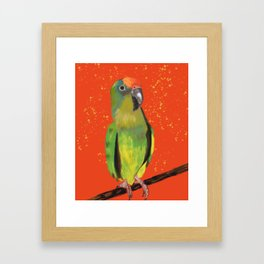 I'll Take a Triscuit #Parrot Painting Framed Art Print