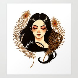 Peacock's feathers Art Print