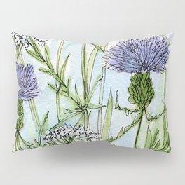 Thistle White Lace Watercolor Pillow Sham