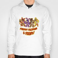 fnaf Hoodies featuring Freddy Fazbear & Friends by Silvering