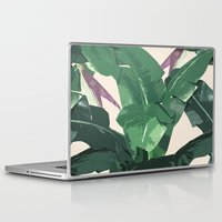 banana leaf Laptop & iPad Skins featuring Banana Leaf Pattern by Tamsin Lucie