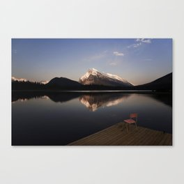 Mount Rundle At Sunset. Canvas Print