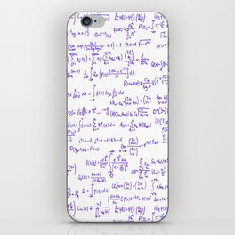 Purple Math Equations iPhone Skin