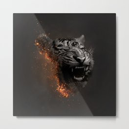 XTINCT x Tiger Metal Print