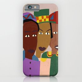 Three Friends by William H. Johnson iPhone Case