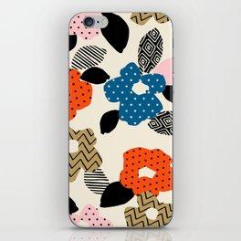 Retro Boho Chic Floral iPhone Skin