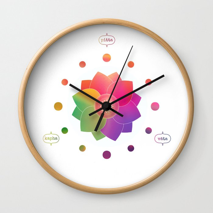 New Harmony - Ayurveda Clock Alternate Version Wall Clock