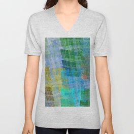 Abstract Fabric Designs 4 Duvet Covers & Pillows Unisex V-Neck