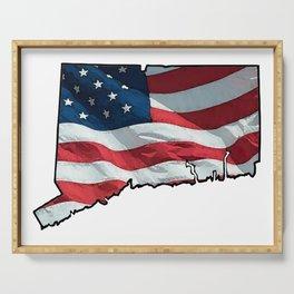 Patriotic Connecticut Serving Tray