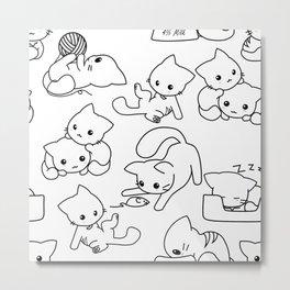 Kittens By Elise Seeley Metal Print