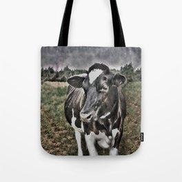 Melancholic Black White Dutch Cow Tote Bag