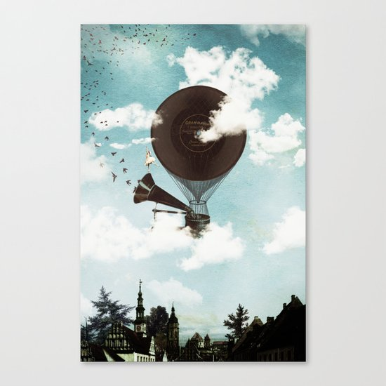 Swan Lake Up in the Air Canvas Print