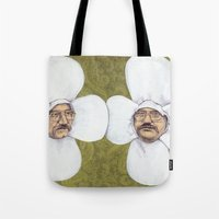 men Tote Bags featuring Flower Men by Jason Ratliff
