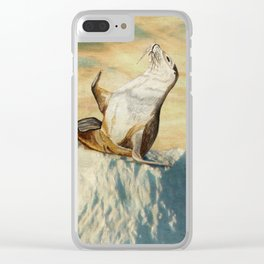 Greetings From The Arctic Clear iPhone Case