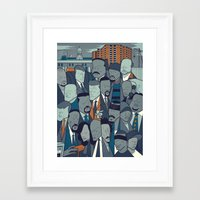 the wire Framed Art Prints featuring The Wire by Ale Giorgini