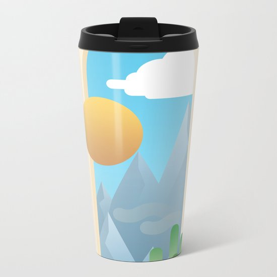 Looking Out Metal Travel Mug