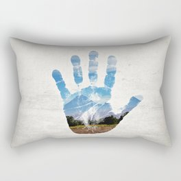 Earth Print Rectangular Pillow