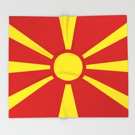 Flag of Macedonia - authentic (High Quality image) Throw Blanket