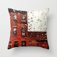 Rainy Day in Brooklyn Throw Pillow