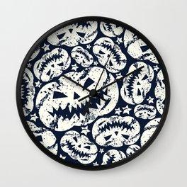 Happy Halloween  pumpkin pattern Wall Clock