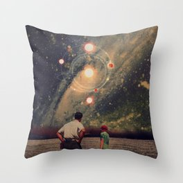 Light Explosions In Our Sky Throw Pillow