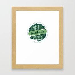 Gardener Number One Framed Art Print