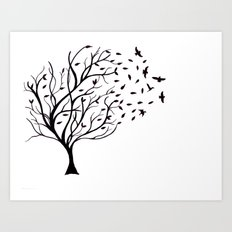 Tree Birds Art Print