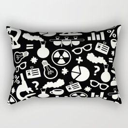 Black and White Science Pattern Rectangular Pillow